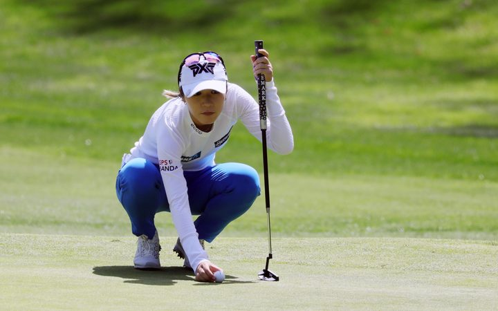 CARLSBAD, CA - MARCH 28: Lydia Ko on the fourth hole green during the first round of the Kia Classic LPGA Golf Tournamenton March 28, 2019, at Aviara Golf Course in Carlsbad, CA. (Photo by Will Powers/Icon Sportswire)