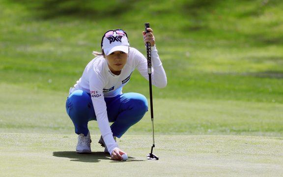 卡尔斯巴德,加州 -  3月28日:第四个孔绿色的丽迪雅Ko在起亚经典LPGA高尔夫球Tournamenton的第一轮期间2019年3月28日,在Aviara高尔夫球场在卡尔斯巴德,加州。 (摄影:Will Powers / Icon Sportswire)