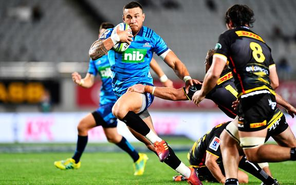 Sonny Bill Williams in action for the Blues  against the Stormers in Super Rugby.