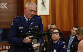 Police show MPs weapons that may soon be banned