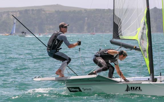 彼得伯林和布莱尔图克。 Oceanbridge新西兰帆船赛2019。