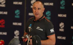 Black Caps coach Gary Stead at the World Cup squad announcement.