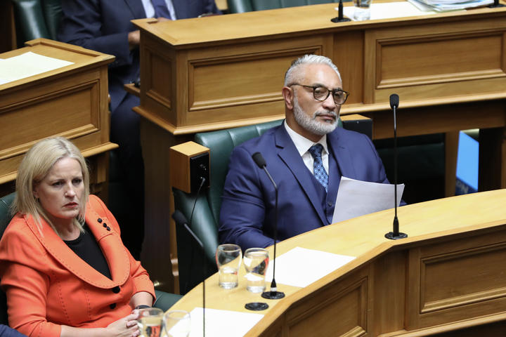 National MPs Alfred Ngaro & Louise Upston listen to an answer