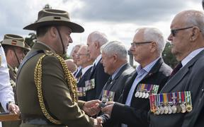 Veterans from 161 Battery 16th Field Regiment, Royal New Zealand Artillery were presented with an Australian Unit Citation for Gallantry at Linton Military Camp on 5 April 2019 by Major General Gregory Bilton, the Forces Commander of the Australian Army.