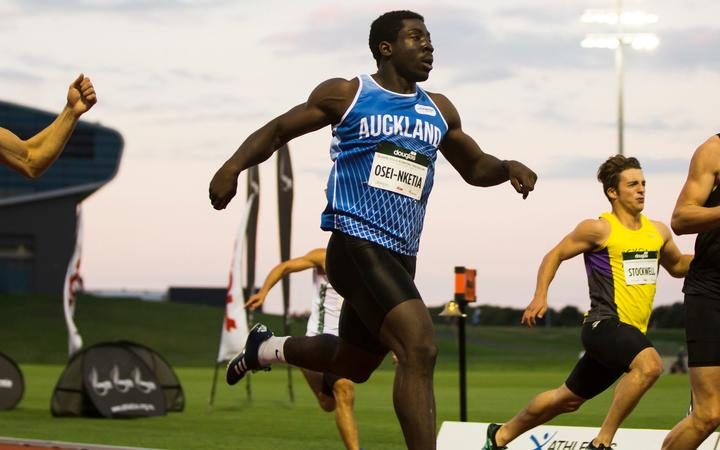 New Zealand sprinter Edward Osei Nketia.