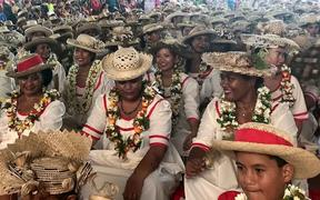 People from French Polynesia's Australes Islands living in Tahiti gather for the Festival Des iles Australes