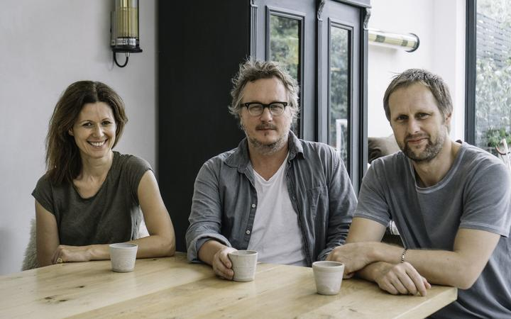 Laura Harper Hinton, Miles Kirby and Chris Ammermann, business partners of Caravan restaurant in London