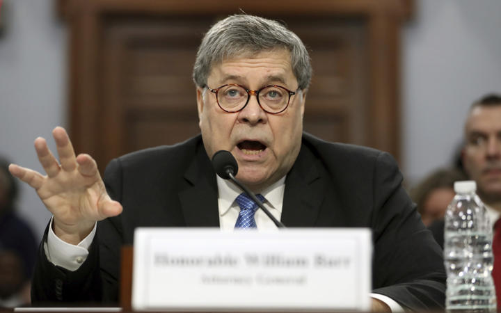 Attorney-General William Barr appears before a House Appropriations subcommittee.
