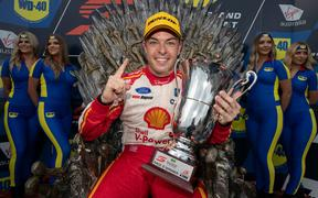 Scott McLaughlin wins race 1 of the WD-40 Phillip Island SuperSprint Event 4 of the Virgin Australia Supercars Championship, Phillip Island, Victoria. Australia. 13th April 2019.