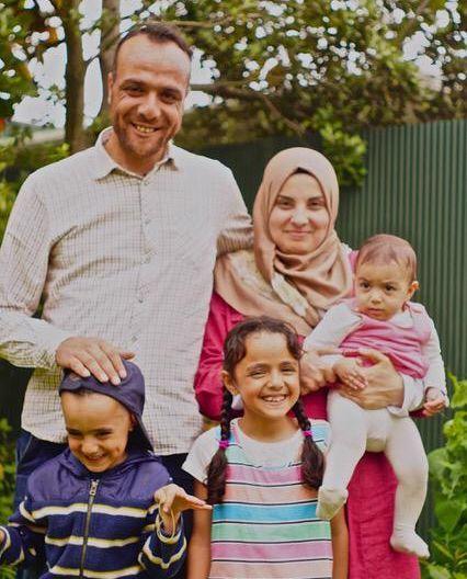 Hisham al-Zarzour and his family.