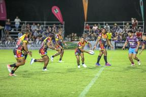 The PNG Hunters secured their first win of the season away to the Central Queensland Capras.