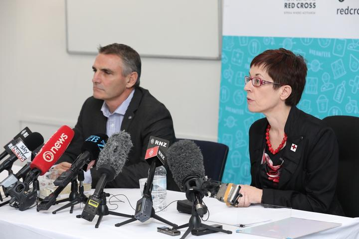 ICRC New Zealand head of crisis management John Dyer and NZ Red Cross Secretary General Niamh Lawless.