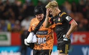 Damian McKenzie leaves the field.