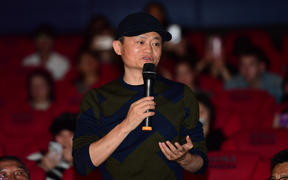 "Jack Ma or Ma Yun, Chairman of Chinese e-commerce giant Alibaba Group, attends a promotional event for new movie ""Green Book"" in Beijing, China, 25 February 2019."