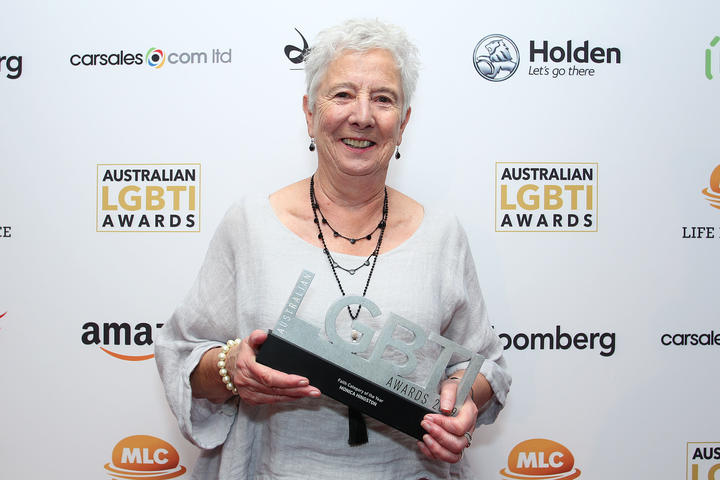 Monica Hingston at the 2019 Australian LGBTI Awards