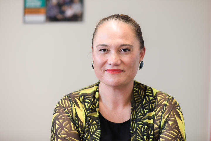 Carmel Sepuloni photographed in her Kelston electorate office.