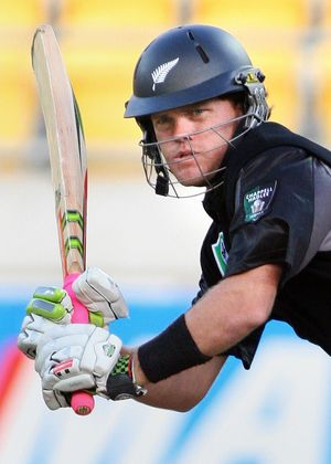 Lou Vincent - now playing with a straight bat.