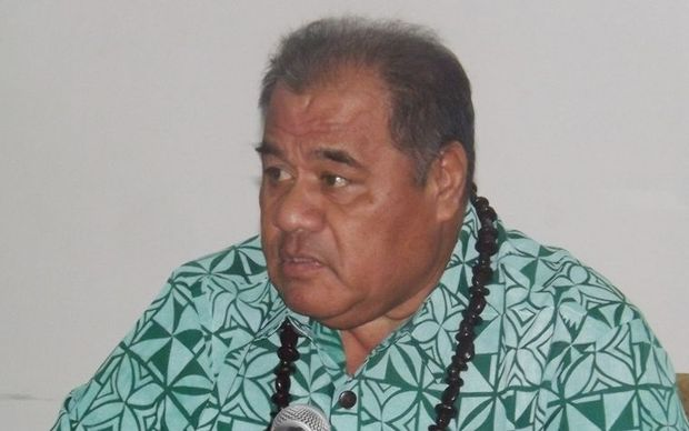 Samoa's opposition leader Palusalue Faapo the 2nd