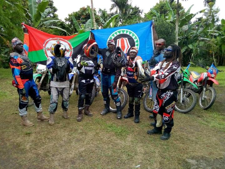 Some of the Bougainville Motorcross Club riders