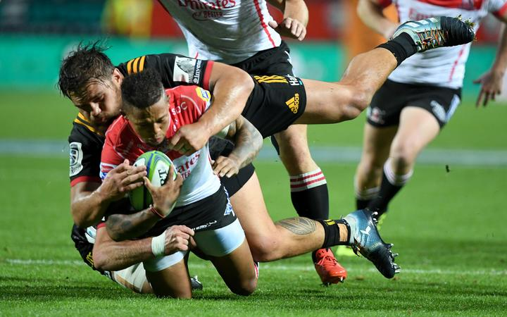 Chiefs v Lions at Waikato Stadium