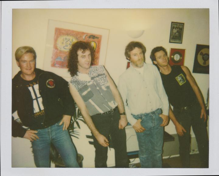 The band at Airforce Studios with JD Souther first on the left.