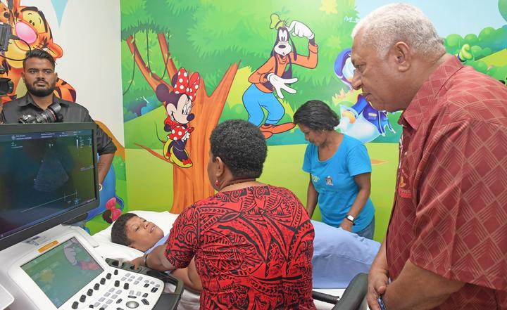 Prime Minister Frank Bainimarama opened the children's heart screening centre in Suva this week.