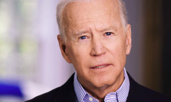 In this still image taken from video released by the Joe Biden 2020 Presidential Campaign, former US Vice President Joe Biden on April 25, 2019, announces his bid for the presidency in the 2020 elections.