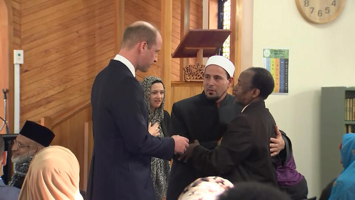 The Duke of Cambridge, Prince William visits Al Noor Masjid in Christchurch.