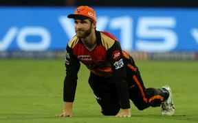 Kane Williamson captain of Sunrisers Hyderabad during match 30 of the Vivo Indian Premier League Season 12, 2019 between the Sunrisers Hyderabad and the Delhi Capitals  held at the  Rajiv Gandhi Intl. Cricket Stadium, Hyderabad on the 14th April 2019
