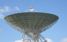 Radio telescope in Warkworth near Auckland.