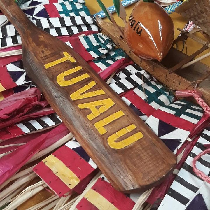 Tuvaluans showcase their arts and crafts at the festival.