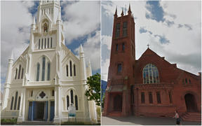 The Cathedral of the Holy Spirit, left, and the All Saints' Anglican Church.