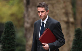 Defence Secretary Gavin Williamson arrives in Downing Street, April 2019.