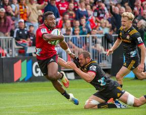 Sevu Reece made his Super Rugby debut for the Crusaders against the Chiefs on March 9.