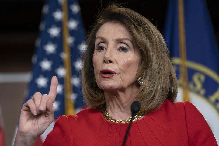 US Speaker of the House Nancy Pelosi pictured in April 2019.