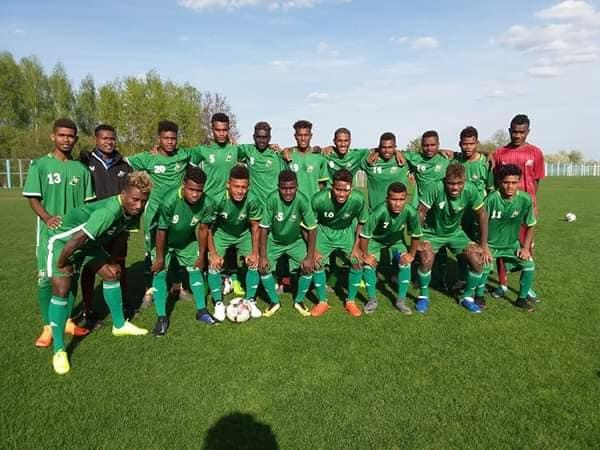 Solomon Islands U17s in Europe.