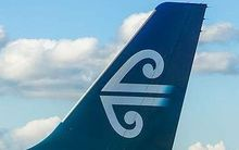 tail of Air NZ plane with logo