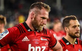 Kieran Read looking disappointed after the Crusaders draw against the Sharks. 6.5.19