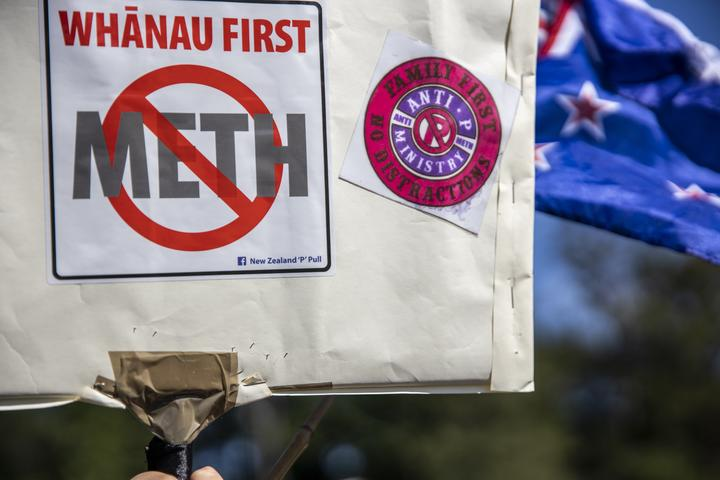 In January, 2019, the Anti-P Ministry held a hikoi in Kawerau to protest against meth use in the rural Bay of Plenty town. New Zealand Herald photograph by Mike Scott