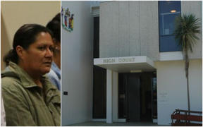 Donna Parangi (file photo) and High Court in Hamilton.