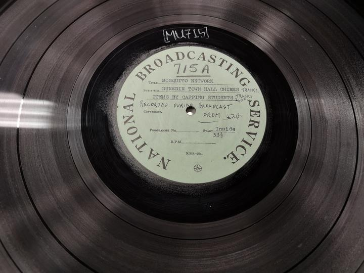 The 16-inch acetate disc on which these items were recorded in 1945.