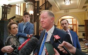 National MP Nick Smith after he was named by the speaker and suspended from Parliament for a day.