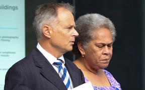 Timaima Tuilawa, right, with lawyer James Rapley QC.
