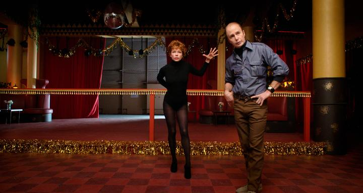 Michelle Williams as Gwen Verdon and Sam Rockwell as Bob Fosse in Fosse/Verdon.