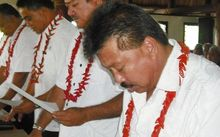 Guilty... Samoa's Associate Minister for Trade and Commerce, Muagututagata Peter Ah Him.