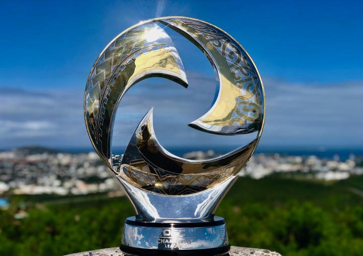 The OFC Champions League Trophy overlooks Noumea ahead of the 2019 Grand Final.