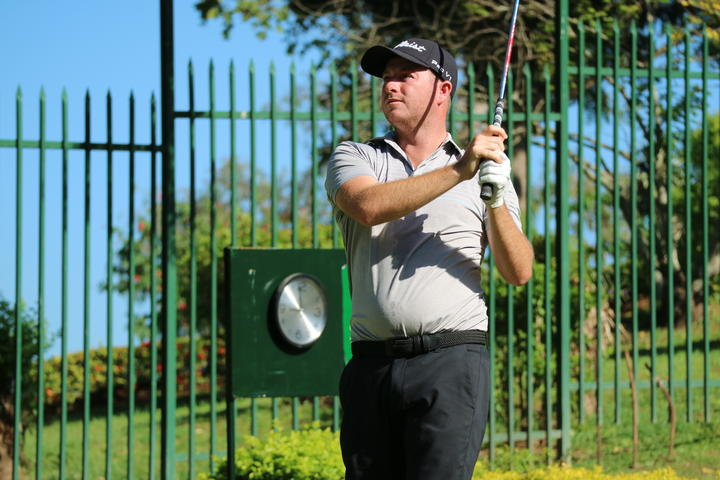 Australian golfer Jordan Mullaney chasing the lead at the halfway point just behind fellow countryman Steven Jeffress.