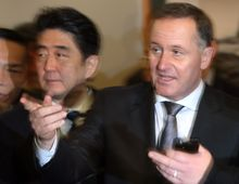 John Key had been accused of going easy on Japan over whaling.