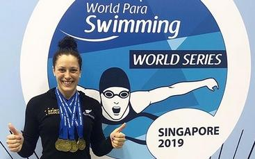 Sophie Pascoe won four of New Zealand's five gold medals in Singapore.