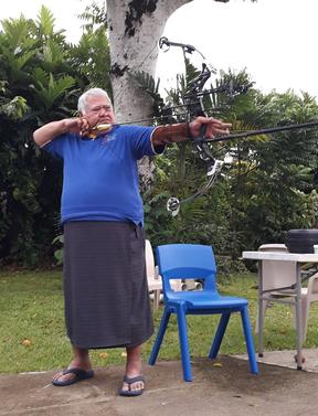 Tuilaepa Sailele Malielegaoi practicing at his official residence.
